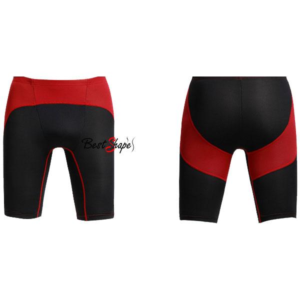 กางเกงออกกำลังกายผู้ชาย-Men-Fitness-สีดำคาดแดง_MFBSHTB_3
