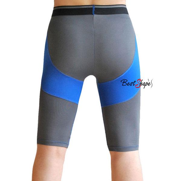 กางเกงออกกำลังกายผู้ชาย-Men-Fitness-สีเทาคาดฟ้า_MFBSHTG_2
