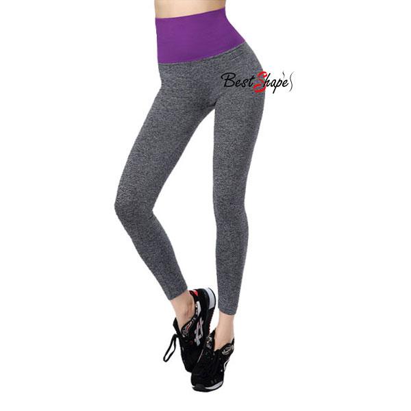 กางเกงออกกำลังกาย-ผู้หญิง-เล่นฟิตนิส-โยคะ-ขายาว-สีม่วง_LEGGRY-PUR_1