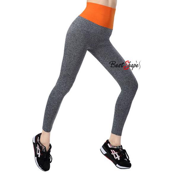 กางเกงออกกำลังกาย-ผู้หญิง-เล่นฟิตนิส-โยคะ-ขายาว-สีส้ม_LEGGRY-ORG_1