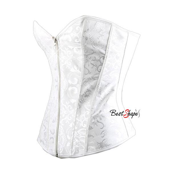 คอร์เซ็ท-Corset-สีขาวพิมพ์ลาย-ขอบเรียบ-รุ่นซิปหน้า_CSZFW1412_3