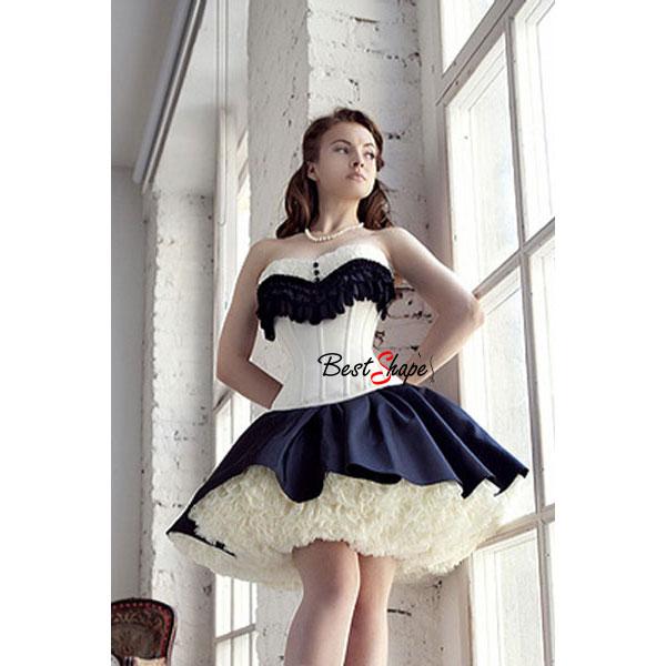 คอร์เซ็ท-Corset-สีขาว-แต่งระบายสีดำ-น่ารักคุณหนู-ไฮโซสุดๆ_CS13002_1