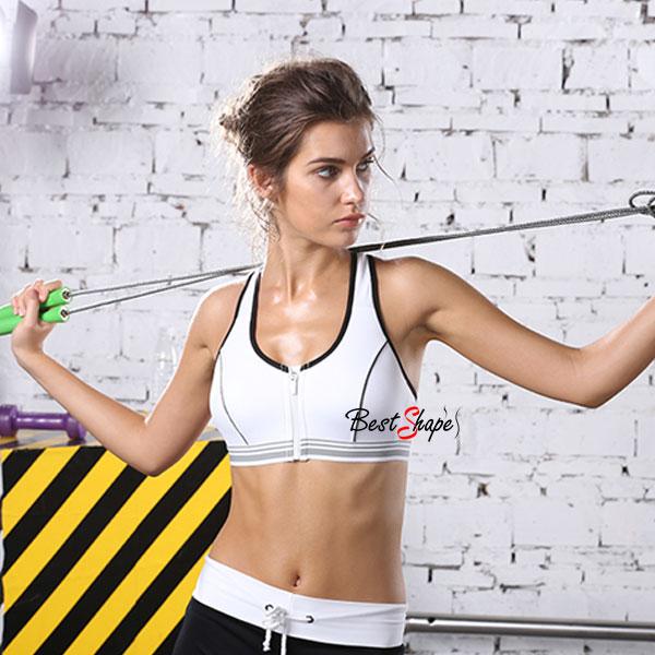 สปอร์ตบรา-ชุดกีฬาผู้หญิง-รุ่นซิปหน้า-รองรับแรงกระแทกระดับ-4-ใส่สบาย-สีขาว_BRA-IBT-SPTZ-HQ01-WH_2