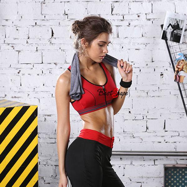 สปอร์ตบรา-ชุดกีฬาผู้หญิง-รุ่นซิปหน้า-รองรับแรงกระแทกระดับ-4-ใส่สบาย-สีแดง_BRA-IBT-SPTZ-HQ01-RD_2