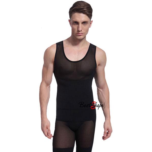 เสื้อกล้ามกระชับสัดส่วนผู้ชาย-เก็บพุง-เก็บหน้าท้องรุ่นปลอกเอว-MVH1407-B-1