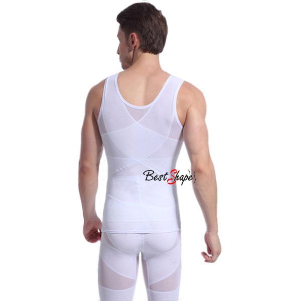 เสื้อกล้ามกระชับสัดส่วนผู้ชาย-เก็บพุง-เก็บหน้าท้องรุ่นปลอกเอว-MVH1407-W-2