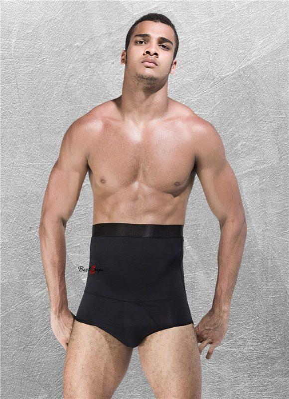 กางเกงกระชับหน้าท้อง ต้นขา สะโพก ผู้ชาย รุ่น Short Cool Fitness สีดำ - 1